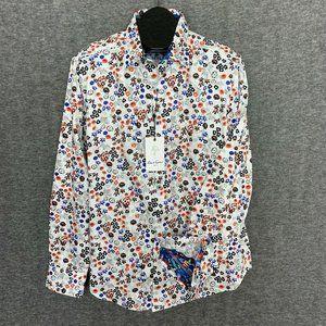 Robert Graham Dugan Button Front Shirt Floral L